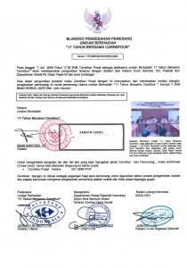 Surat Notaris Carrefour