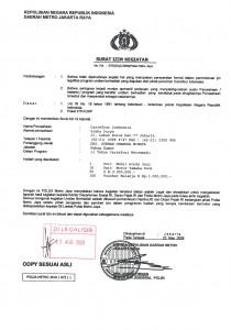 Surat Polisi Carrefour